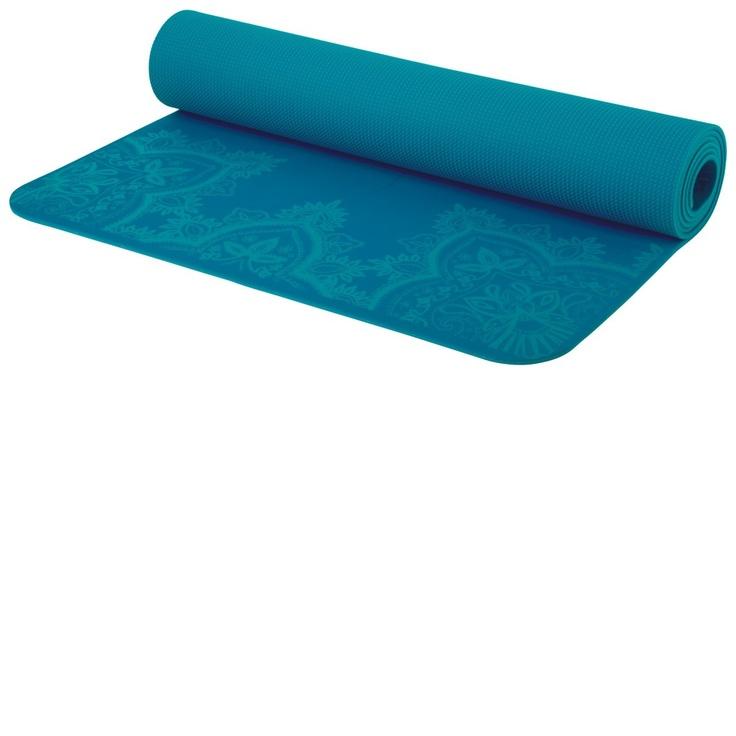 prAna ECO sticky mat in capri blue with printed designhttp://www.kamalaom.com/prana-printed-e-c-o-yoga-mat-capri-blue/)