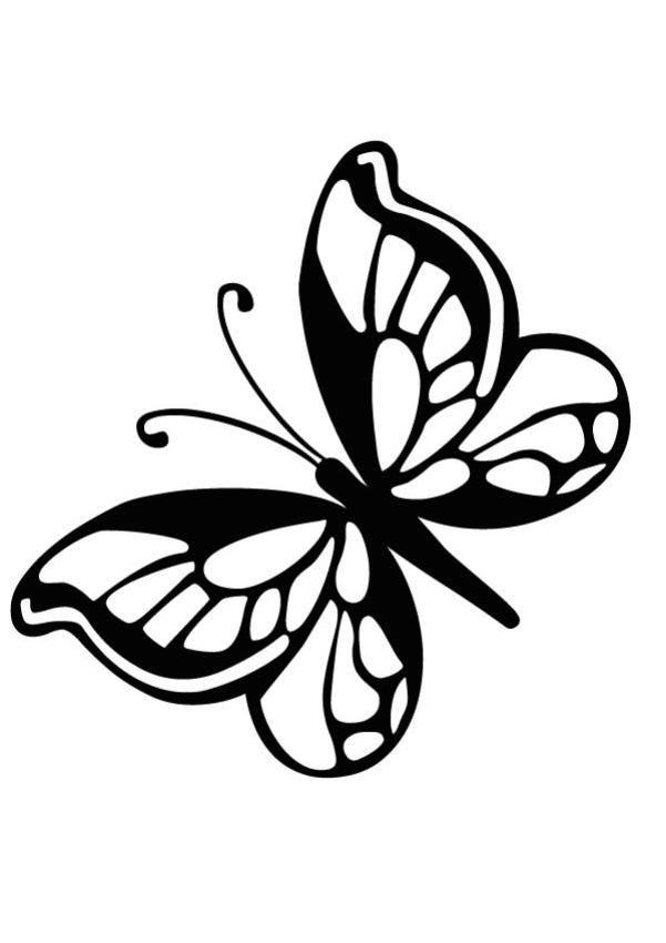 mariposas infantiles para colorear