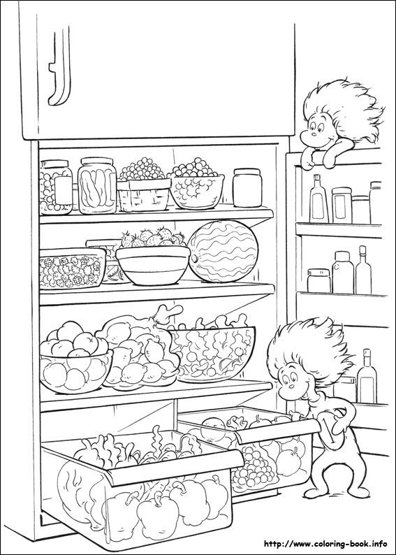 seuss the cat in the hat coloring pages 25 - Cat In The Hat Coloring Pages