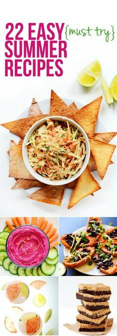22 Easy summer-friendly recipes requiring little-to-no heat and perfect for warmer weather + cookouts! Appetizers, entrees, cocktails + desserts!