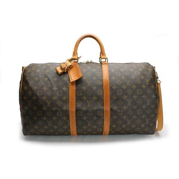 52eca4d486d3 Louis Vuitton Keepall Bandouliere 55 Monogram Handle bags Brown Canvas  M41414   Louis vuitton - Monogram - Luxury fasion used store Rastro    Pinterest ...