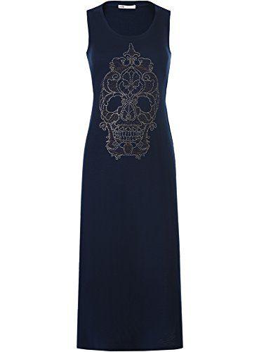 Nuova offerta in #abbigliamento : oodji Ultra Donna Maxi Abito con Teschio in Strass XL Blu a soli 15.4 EUR. Affrettati! hai tempo solo fino a 2016-09-30 23:45:00