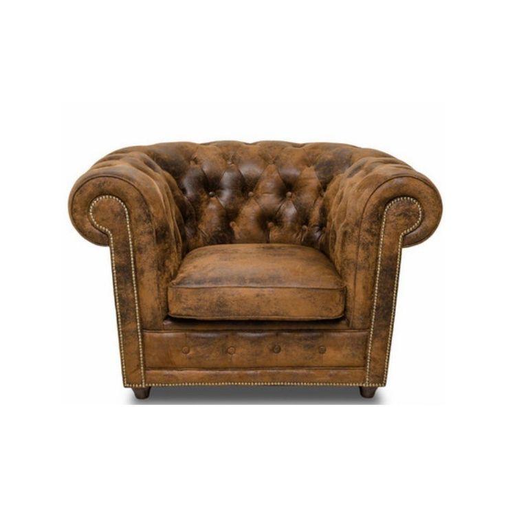 Oxford lænestol i vintage stil - Chesterfield stol i bedste kvalitet