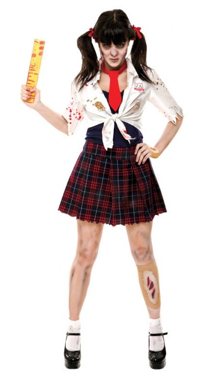 Women's Zombie School Girl Costume