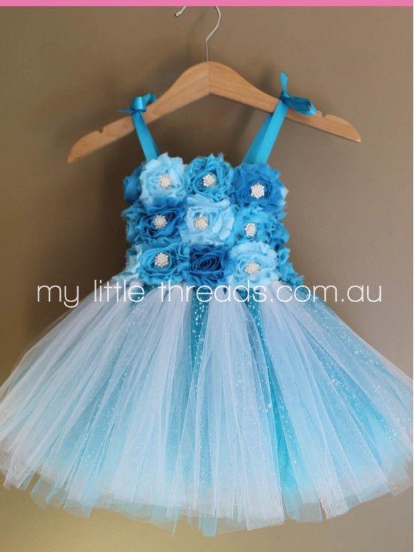 Premium Baby Elsa Dress - Hand made to order