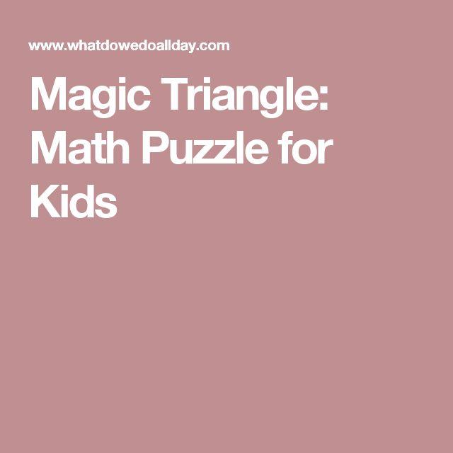 Magic Triangle: Math Puzzle for Kids