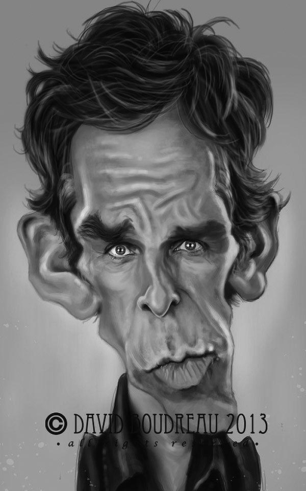 Caricatura de Ben Stiller.