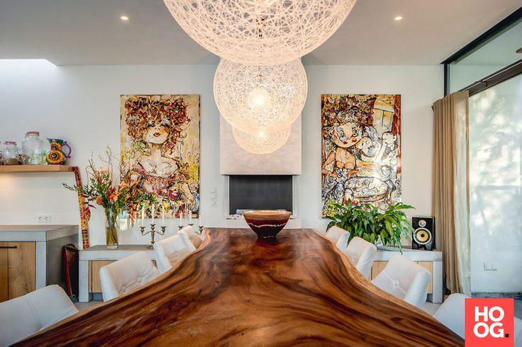 25 beste idee n over houten eettafels op pinterest eettafels eettafel en tafel - Luxe eetkamer ...
