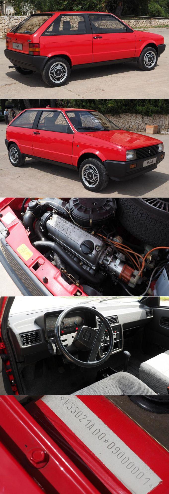 1988 Seat Ibiza / first one produced / Giorgietto Giugiaro / System Porsche / Spain / red