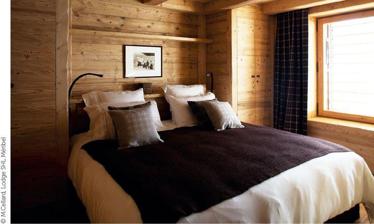 Sypialnia wstylu chalet