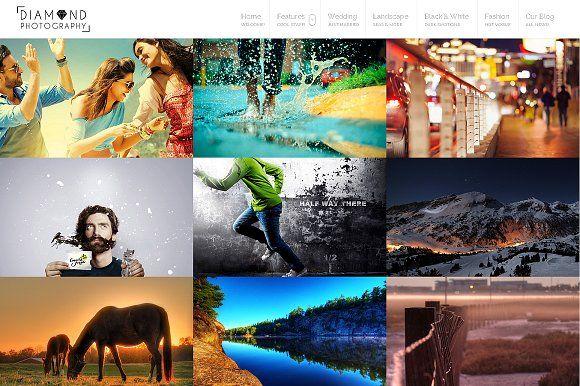 Diamond - WP Photographer Theme by 7Theme on @creativemarket