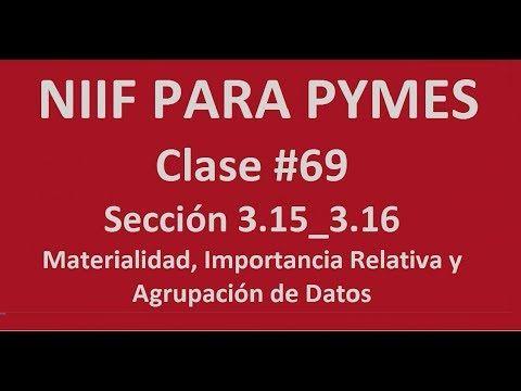 777. Materialidad, Importancia de Datos y Agrupación. Sección 3.15_3.16 ...https://youtu.be/_d8-Xnr7Fbc