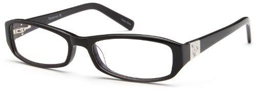 6312945455 Women s Square Black Glasses Frames Prescription Eyeglasses Size 54-17-137  Black Glass