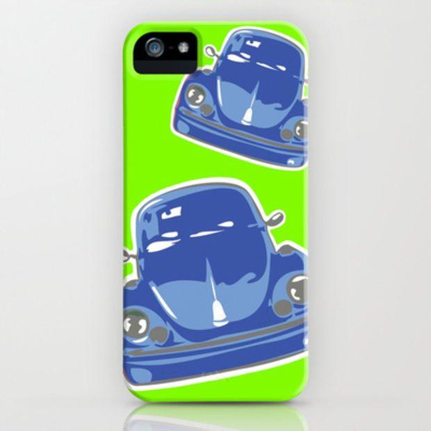 Big Blue iPhone & iPod Case by Alan Hogan @wanelo  #iphone #phonecovers #vw #vwbeetle #funkygreen #funkyblue #cars #sixties #bold #big #bluebeetle #bigblue #bluecars #phoneaccessories #wanelo #society6