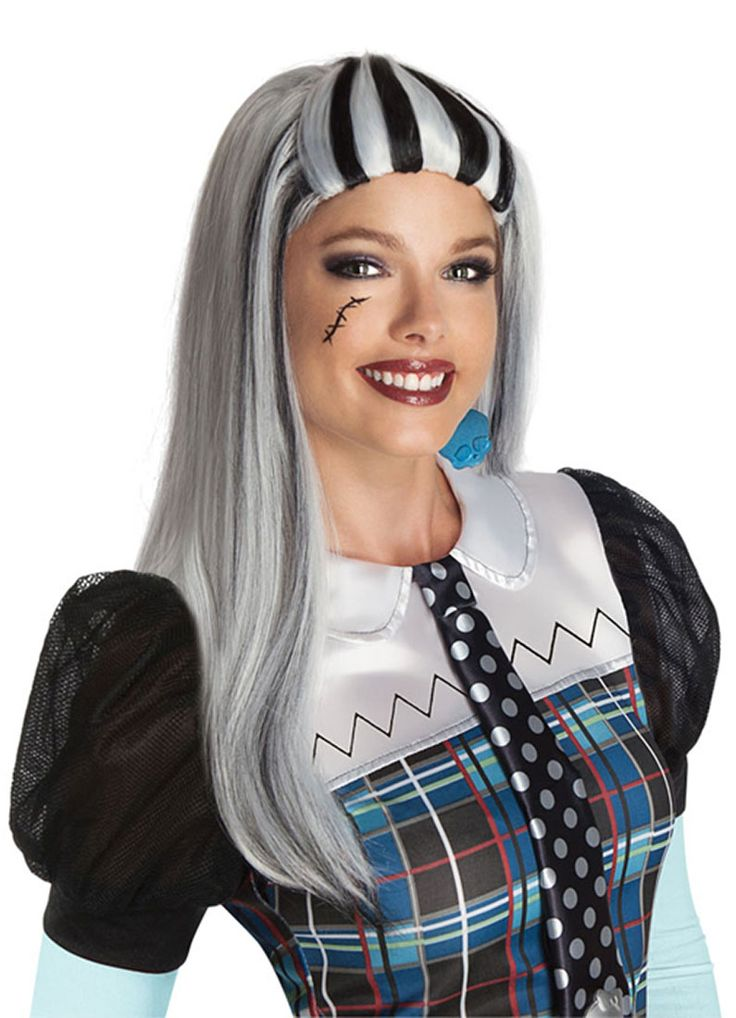 Aikuisten Monster High Frankie Stein -peruukki. Tuote on lisensoitu Monster High Frankie Stein peruukki ja se täydentää upeasti hahmon naamiaisasukokonaisuuden.