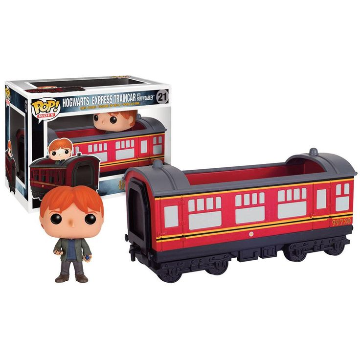 Edizione limitata! Statuetta da collezione Hogwarts Express Car & Ron della collezione Pop! del brand Funko!