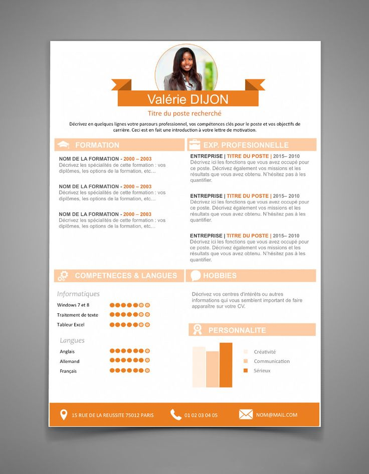 resume template pages