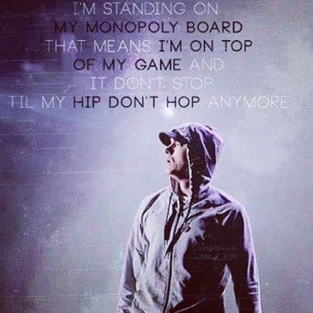 """Eminem quote from """"No Love"""""""