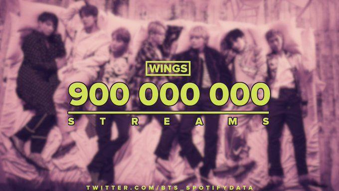 Wings Album By Bts Has Surpassed 900m Total Streams On Spotify Bts Bts Billboard Album Songs