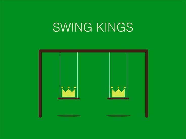 Swing Kings. #swing #music #king #crown #minimalist #logo #logodesign #poster #posterdesign #design #graphicdesign