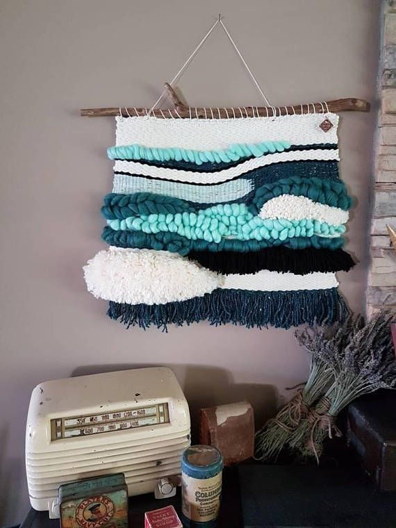 Check out this item in my Etsy shop https://www.etsy.com/ca/listing/554234556/woven-wall-hanging-ocean-scape