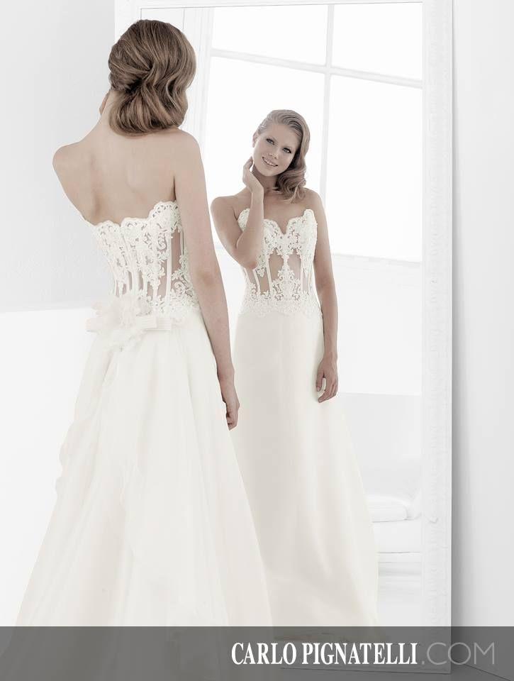 """Model """"Aurora"""" - Fiorinda le spose di Carlo Pignatelli 2015. #carlopignatelli #sposa #bride #weddingdress #bridalgown #weddingday #matrimonio"""