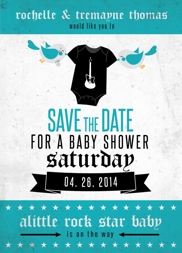 Baby shower save the date in Australia