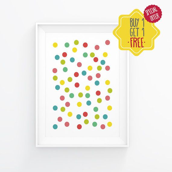 Colourful Polka dot printable, Home Decor Art, Scandinavian Poster, Polka Print, Geometric Poster,Home poster, 2eggsProject,INSTANT DOWNLOAD