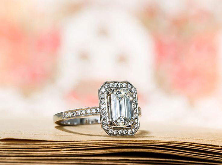 Ring with an Emerald Cut Diamond