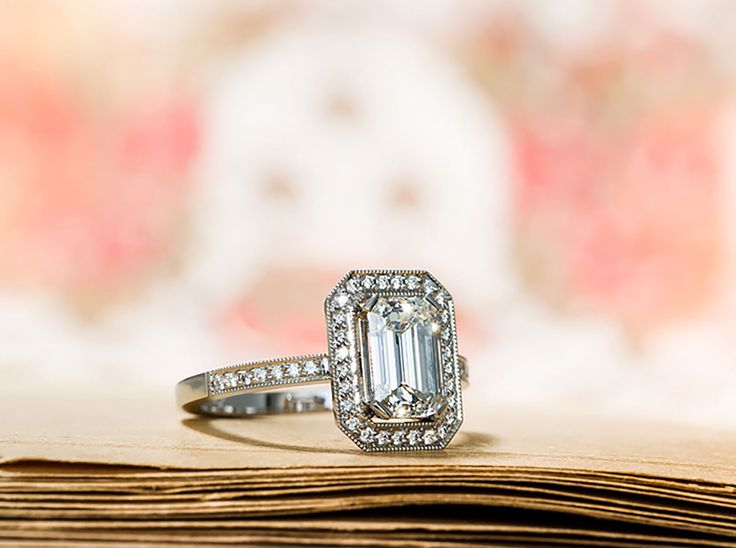 Ring with an Emerald Cut Diamond