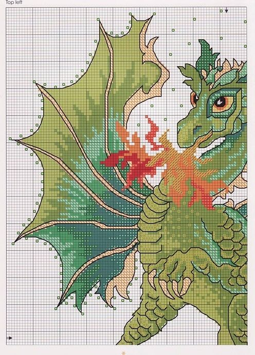 Chinese dragons 1 and 2 more to cross stitch