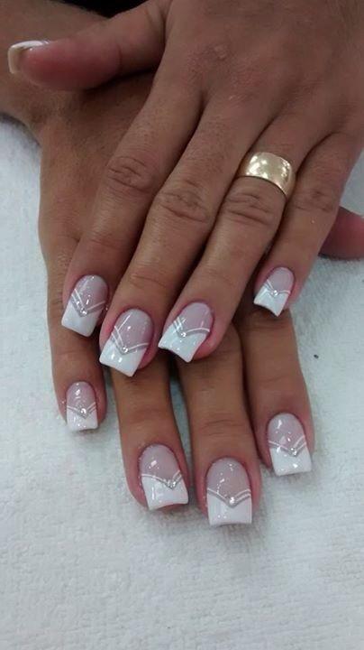 unique french manicure nails
