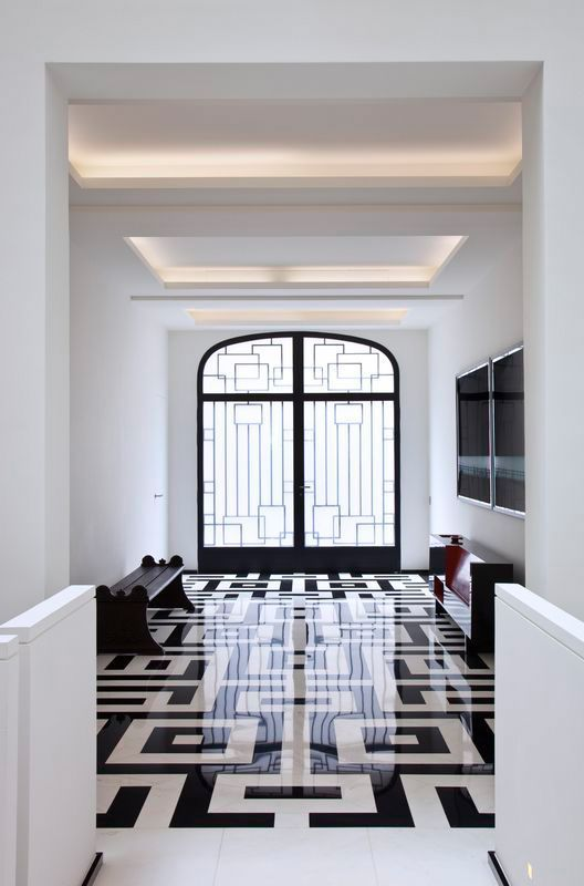 black and white #floor