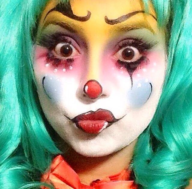Clown make-up carnaval