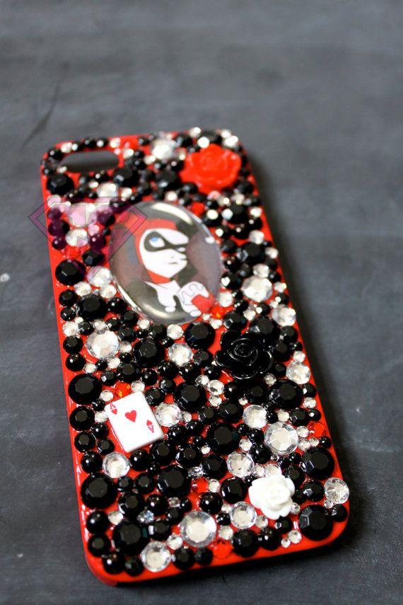 Caja roja Harley Quinn IPhone 5 por CraftGirlStudios en Etsy, $20.00