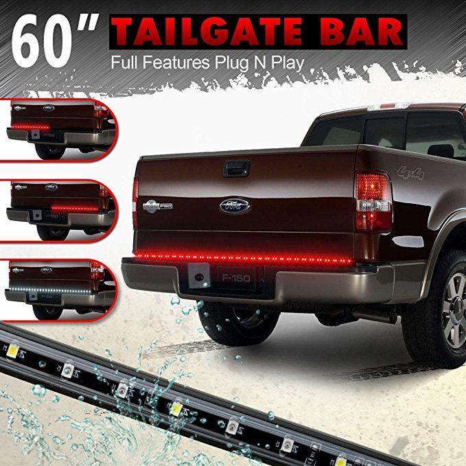 Partsam 60 Red White Tailgate Led Strip Light Bar For Reverse Brake Turn Signal Tail For 1988 2002 Chevrolet K15 Led Tailgate Light Bar Bar Lighting Tailgating