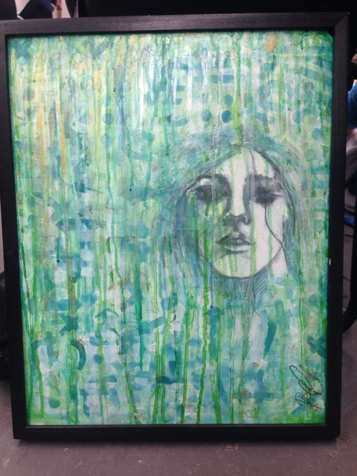Recent live art piece. Done in two hours. Theme - anxiety and imagination mixedmediatexture