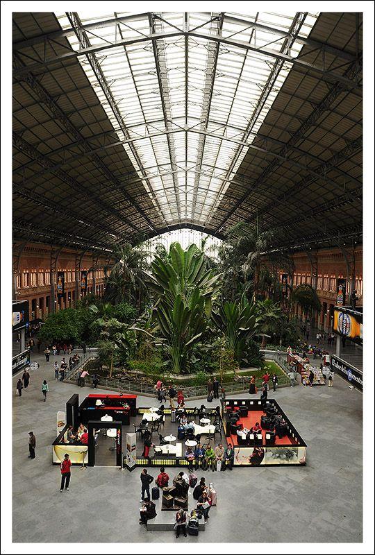Atocha Station Madrid Spain