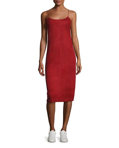 149a7da719a Theory Telson S Metises Suede Midi Dress in 2019 | Fashion look ...