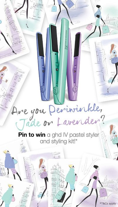 Pin for your chance to win in the ghd Pastel Pinterest contest!  #ghdpastels