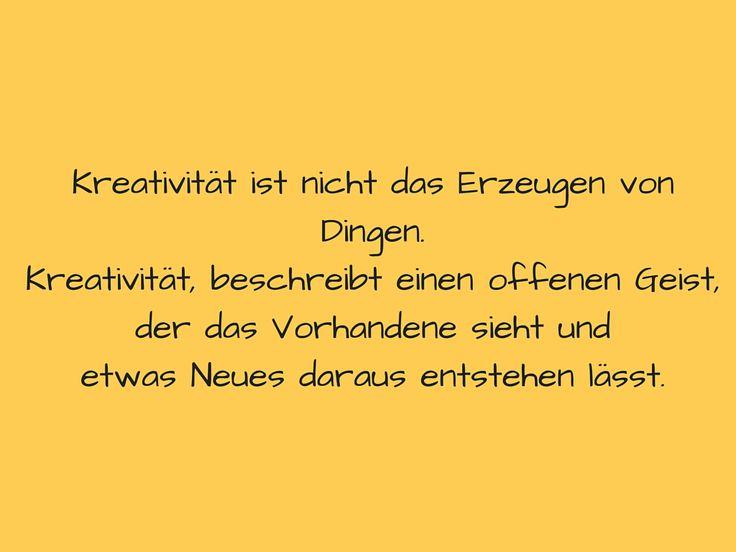Artikel zum Thema Kreativität. Kann man Kreativität ...