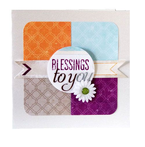 Blessings Vintage Chic Scrapbook Card __ Vintage Chic papers & the new Shape Maker System punch, Idea from Creative Memories, Detailed Instructions: http://projectcenter.creativememories.com/photos/our_newest_project_ideas/blessings-vintage-chic-scrapbook-card-idea.html