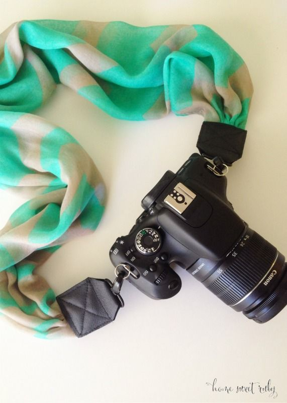 Home Sweet Ruby: DIY :: Scarf Camera Strap