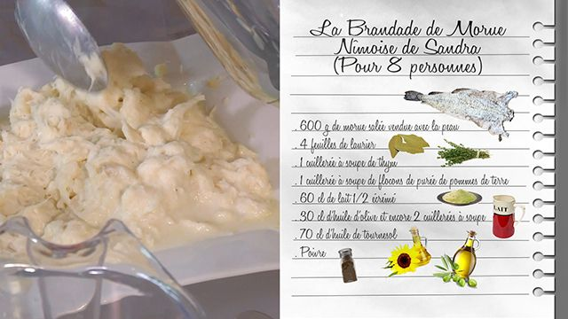 La brandade de morue Nîmoise de Sandra - Recettes - Les Carnets de Julie - France 3