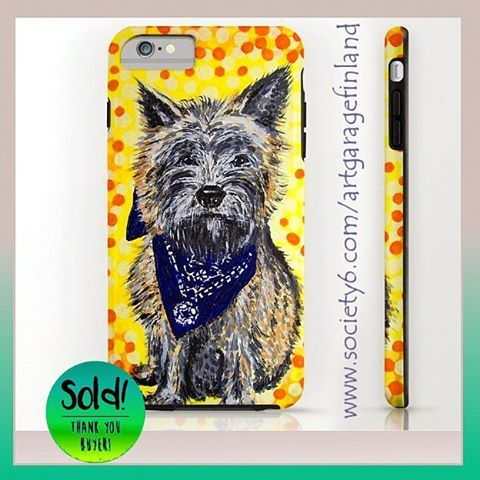 Sold!!! 🐶 ...thanks to the buyer of this iPhone 6s tough case from my Society6 webshop. This original hand-painted canvas of a Cairn terrier was sold a few years ago.  #dogsofinstagram #cairnterrier #iphonecover #phonecase #instadog #terrier #scottishbreed #society6 #s6 #art #design #artistsofinstagram #instaphone #alanhogan #iphone6splus #doglover #sold #thankyou #hund #madra #koira #paintings #handpainted #dogs #puppy #dogoftheday #terrierart #doggie🐶 #dogdesign #dogandbone