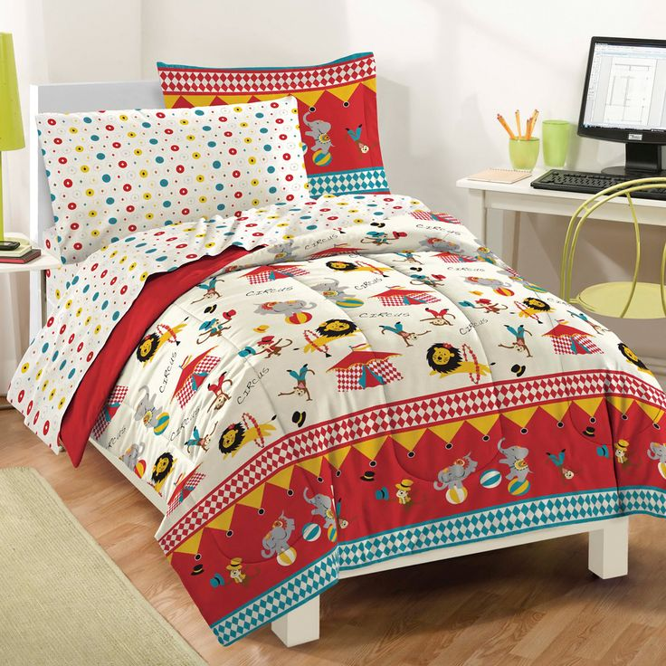 dream factory circus mini bed in a bag bedding set white