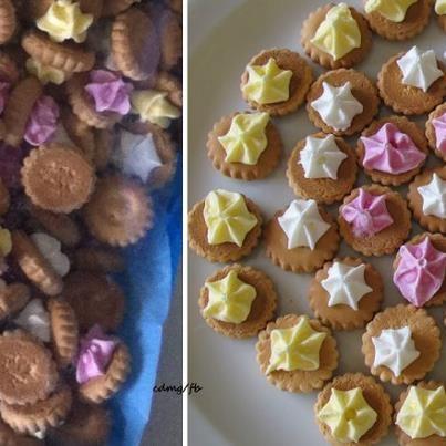 tout-petits biscuits avec une toute petite meringue que l'on adorait manger à noël !