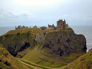 Dunnottar Castle   Scotland in the High Middle Ages - Wikipedia, the free encyclopedia   I'm liking that gate!