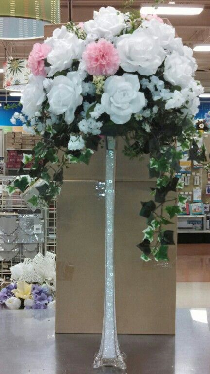 Wedding altar rose flower centerpiece michaels craft
