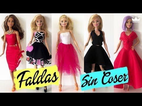 DIY: 1 PATTERN 3 DRESSES / 1 MOLDE 3 VESTIDOS P/ BARBIE / DOLL TUTORIAL - YouTube